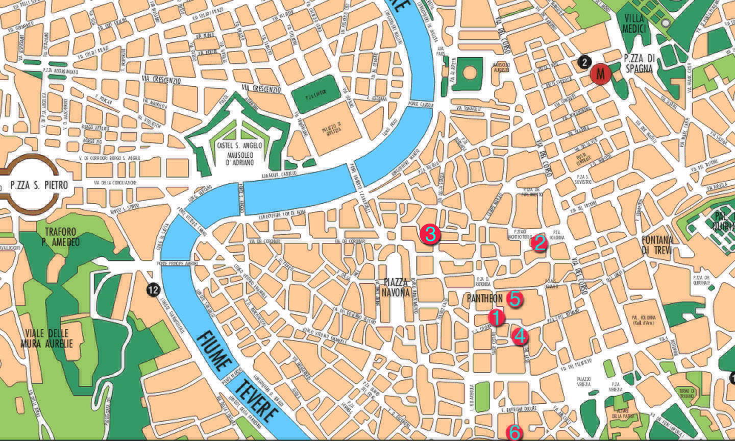 Italy Travel Advice – Map Of Rome For Tourists